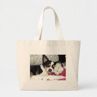 Chihuahua Blah Large Tote Bag
