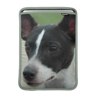 "Chihuahua blanco y negro 13"" manga de MacBook Fundas Para Macbook Air"