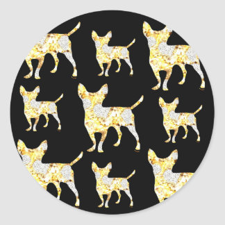 CHIHUAHUA BLING! CLASSIC ROUND STICKER