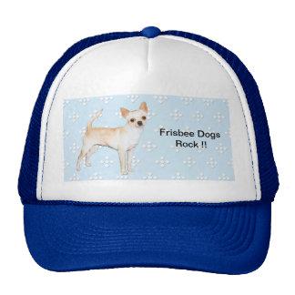 Chihuahua ~ Blue w/ White Diamonds Design Trucker Hat