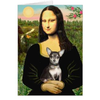 Chihuahua (BlueTan) - Mona Lisa Card