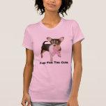 Chihuahua Breast Cancer Ladies T-Shirt