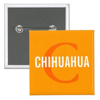 Chihuahua Breed Monogram Design Button