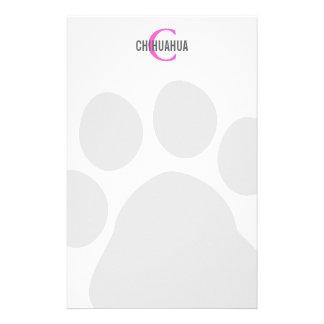 Chihuahua Breed Monogram Design Custom Stationery
