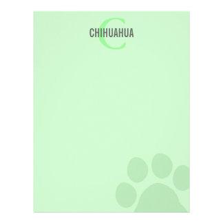 Chihuahua Breed Monogram Design Personalized Letterhead