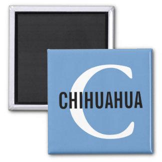 Chihuahua Breed Monogram Design Magnet