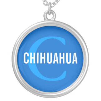 Chihuahua Breed Monogram Design Personalized Necklace