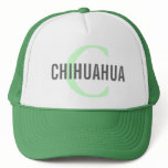 Chihuahua Breed Monogram Design Trucker Hat