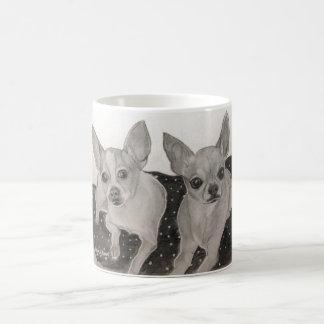 Chihuahua Buddies original artwork Classic White Coffee Mug