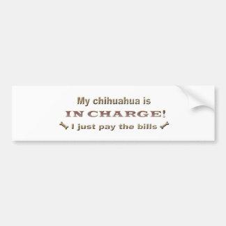 chihuahua etiqueta de parachoque