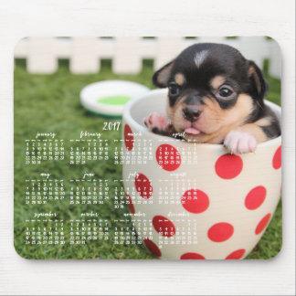Chihuahua Calendar 2017 Custom Mouse Pad