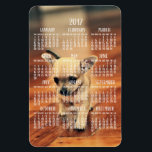 """Chihuahua Calendar 2017 Photo Magnet 4x6 Large<br><div class=""""desc"""">Chihuahua Calendar 2017 (yearly) printed on large flexible photo magnet (vertical,  4 inches by 6 inches) with customizable photo - you can add your photo</div>"""