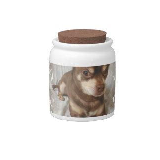 Chihuahua Candy Jar