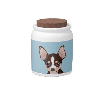 Chihuahua cartoon candy jar