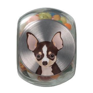 Chihuahua Cartoon Glass Jar