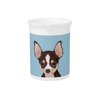 Chihuahua cartoon pitcher