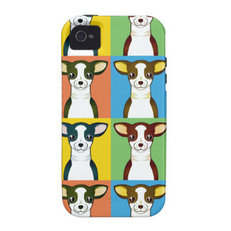 Chihuahua Cartoon Pop-Art Case For The iPhone 4