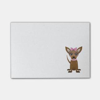 Chihuahua cartoon post-it notes