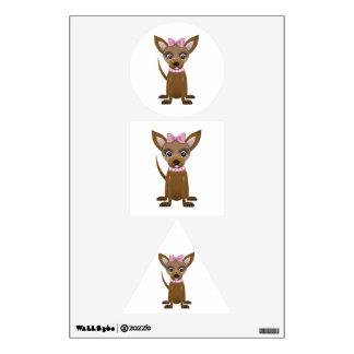 Chihuahua cartoon wall decal