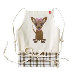 Chihuahua cartoon zazzle HEART apron
