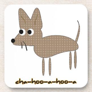 Chihuahua Chihooahooa Drawing Cartoon Beverage Coaster