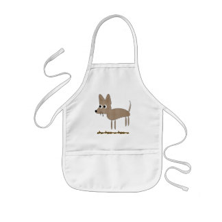 Chihuahua Chihooahooa Drawing Cartoon Kids' Apron