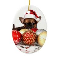 chihuahua christma ornament