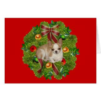 Chihuahua Christmas Card Wreath