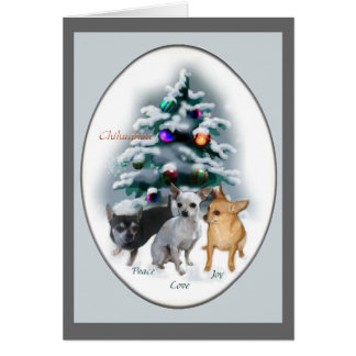 Chihuahua Christmas Gifts Card