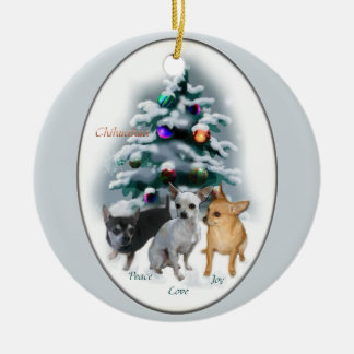 Chihuahua Christmas Gifts Ornament