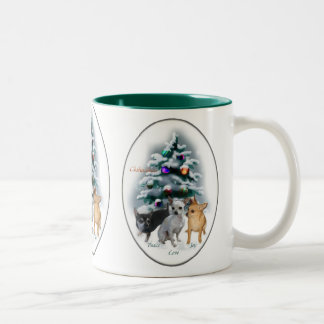 Chihuahua Christmas Gifts Two-Tone Coffee Mug