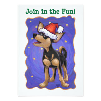 Chihuahua Christmas Personalized Announcement Cards