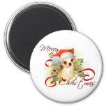 Chihuahua Christmas Magnet