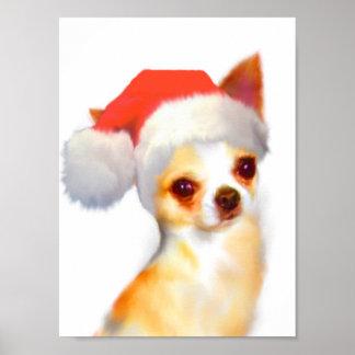 Chihuahua Christmas Poster Print