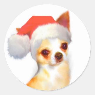 Chihuahua Christmas Stickers