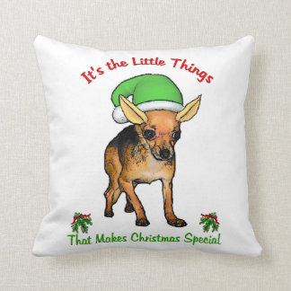 Chihuahua Christmas Throw Pillow