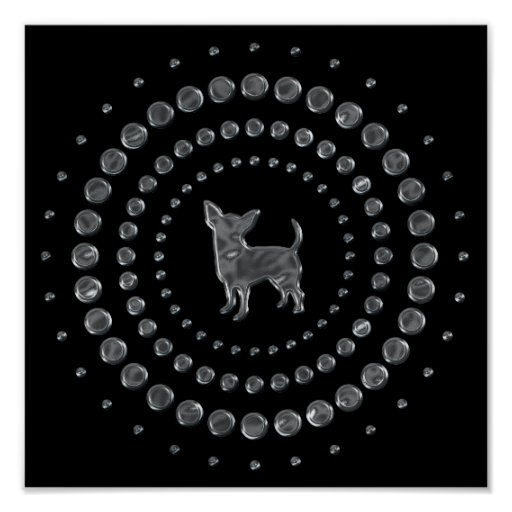 Chihuahua Chrome Studs Poster