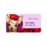 Chihuahua Claus Custom Address Label