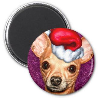 Chihuahua Claus Magnet