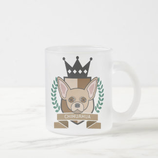 Chihuahua Coat of Arms 10 Oz Frosted Glass Coffee Mug