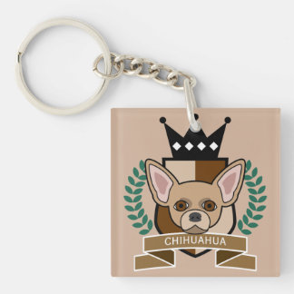 Chihuahua Coat of Arms Keychain