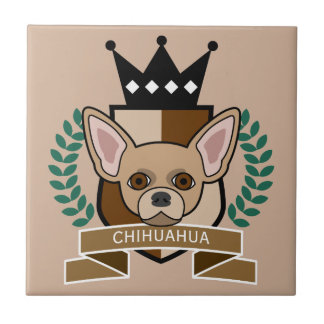 Chihuahua Coat of Arms Small Square Tile
