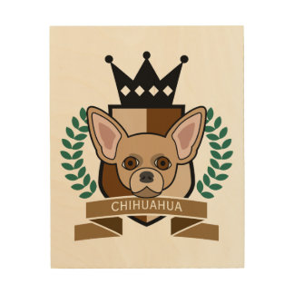 Chihuahua Coat of Arms Wood Print