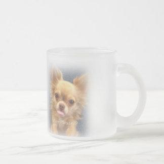 Chihuahua coffee sulk frosted glass coffee mug