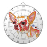 Chihuahua Colorful Abstract Dartboards