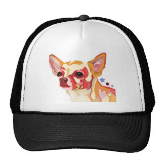 Chihuahua Colorful Abstract Trucker Hats
