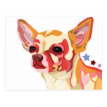 Chihuahua Colorful Abstract Post Cards
