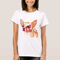 Chihuahua Colorful Abstract T-Shirt