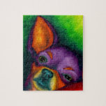 Chihuahua colorida rompecabeza con fotos