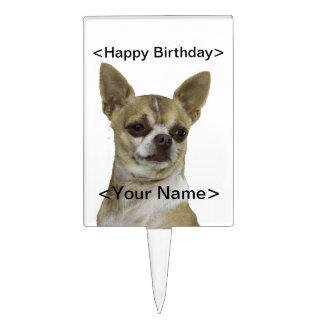 Chihuahua con actitud decoración de tarta